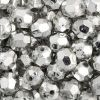Facet Craft Beads Silver 8mm